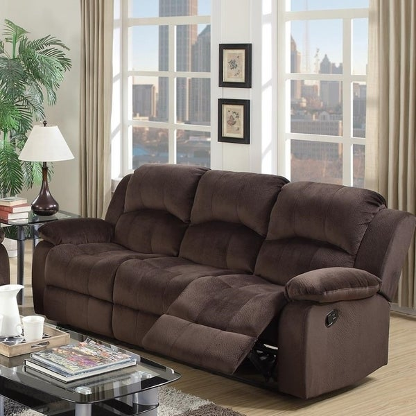 Shop Plushy Solid Pine Padded Suede Amp Plywood Reclining