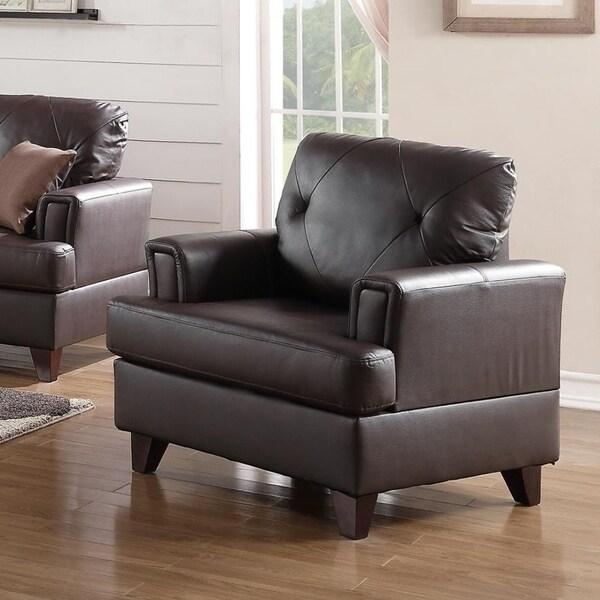 Uniquely Designed Genuine Leather U0026amp; Pine Wood Arm Chair, ...
