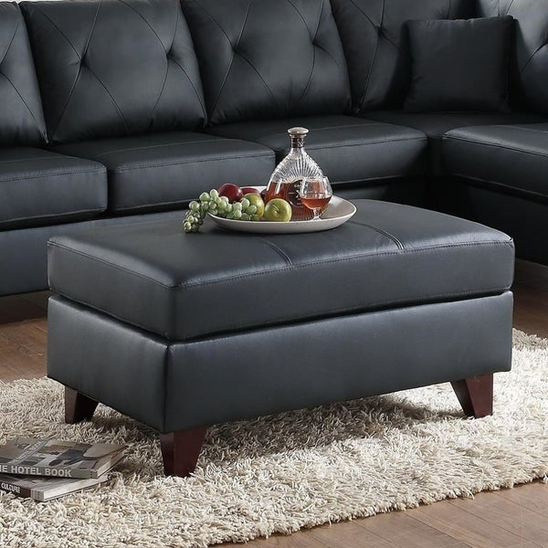 Ottomans Richmond Pine Ottoman: Shop Well-Bred Genuine Leather & Pine Wood Cocktail