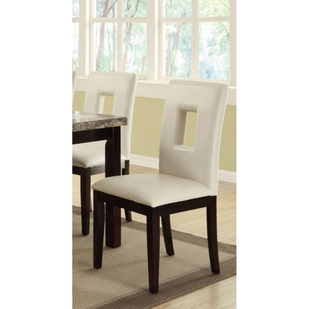 Classic Pine Wood Dining Chairs Set Of 2 White And Brown On Sale Overstock 20856080
