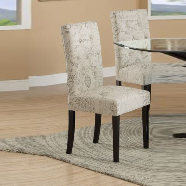 Set Of 2 Dining Chairs: Shop Set Of Two Dining Chairs With Micro Suede Print