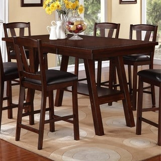 Rubber Wood Counter Height Table In Brown