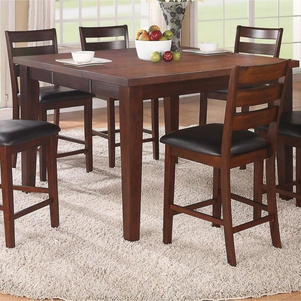 Shop Solid Wood Counter Height Table With Sturdy Legs