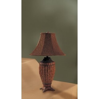Polyresin 30' Table Lamp With Aesthetic Base Set Of 2 Brown