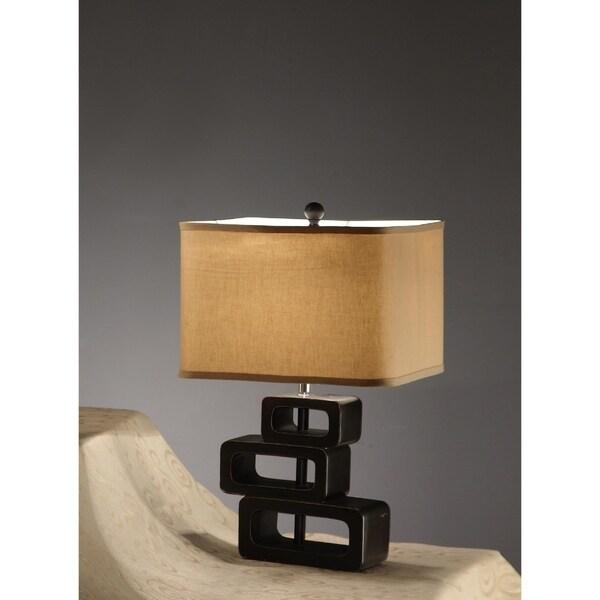 Polyresin Lamp Black Set Of 2