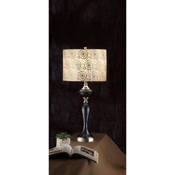 Contemporary Style Lamp Black Set Of 2