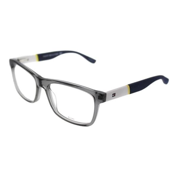 b23a00ca68 Tommy Hilfiger Rectangle TH 1282 FNV Unisex Gray White Frame Eyeglasses