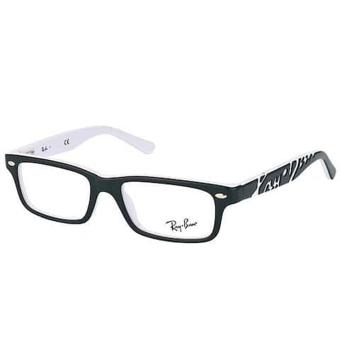 Ray-Ban Rectangle RY 1535 3579 Children Black On White Frame Eyeglasses