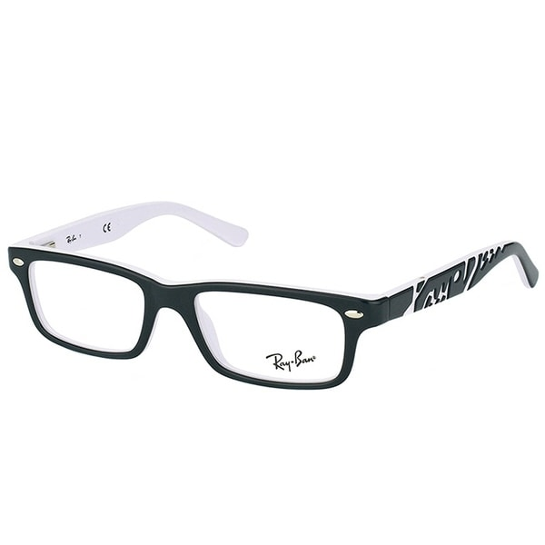 57635c2fae Ray-Ban Rectangle RY 1535 3579 Children Black On White Frame Eyeglasses