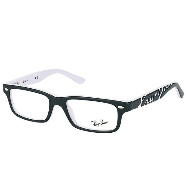 34a77ae4fe Ray-Ban Rectangle RY 1535 3579 Children Black On White Frame Eyeglasses