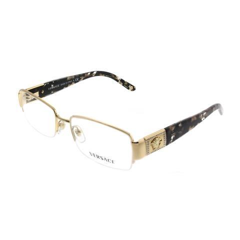 Versace Rectangle VE 1175B 1002 Womens Gold Frame Eyeglasses