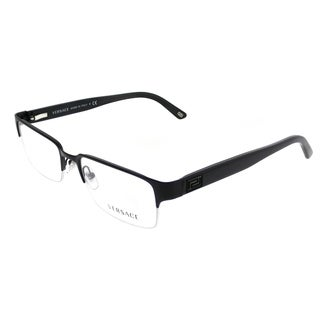 Versace Rectangle VE 1184 1261 Unisex Matte Black Frame Eyeglasses