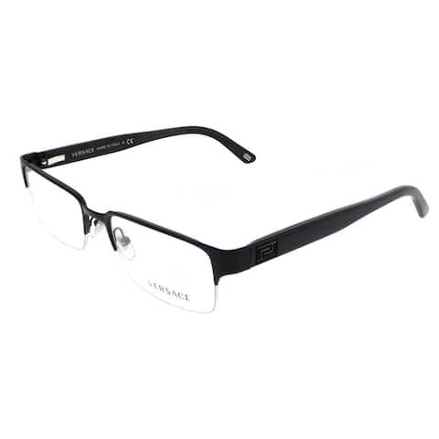Versace Rectangle VE 1184 1261 Unisex Matte Black Frame Eyeglasses