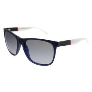 Tommy Hilfiger Rectangle TH 1281/S FMC DK Unisex Blue Frame Sky Blue Flash Lens Sunglasses