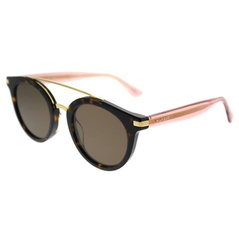 d8043c9fa534 Tommy Hilfiger Round TH 1517/S 086 70 Unisex Dark Havana Frame Brown Lens  Sunglasses