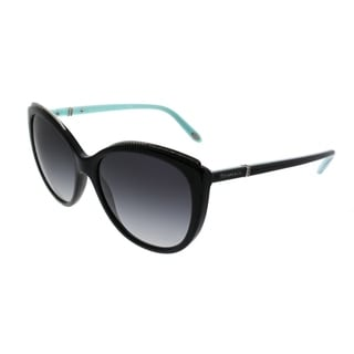 Link to Tiffany & Co. Cat-Eye TF 4134B 80013C Women Black Frame Grey Gradient Lens Sunglasses Similar Items in Women's Sunglasses