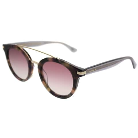 24d426032 Tommy Hilfiger Round TH 1517/S 0T4 2S Unisex Havana Pink Frame Pink Mirror  Lens