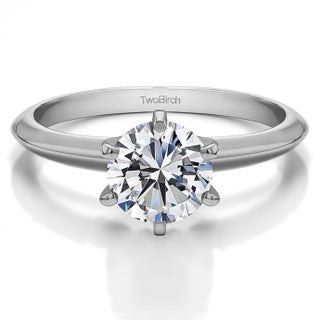 14k Gold Lab Created Diamond Solitaire Engagement Ring (3/4 Carat, K-L Color, SI1-SI2 Clarity) (More options available)