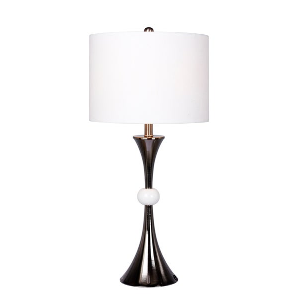 Fangio Lighting's 1567BLK 30.5 in. Black Nickel/Marble Table Lamp
