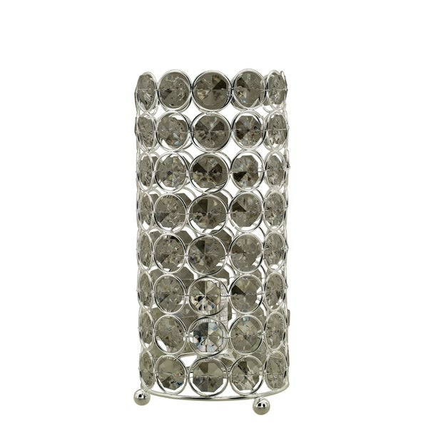 Fangio Lighting's #5153 11 in. Contemporary Glam Beaded Clear Acrylic & Polished Nickel Uplight