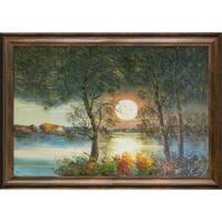 Justyna Kopania 'Moon' Hand Painted Oil Reproduction