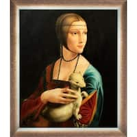 Leonardo da Vinci 'Lady With an Ermine' Hand Painted Oil Reproduction