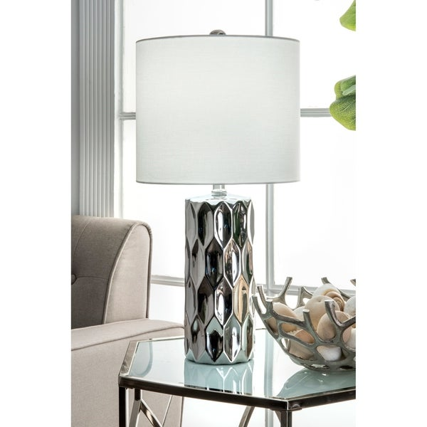 "Watch Hill 22'' Oriana Ceramic Linen Shade Table Lamp - 22"" h x 11"" w x 11"" d"