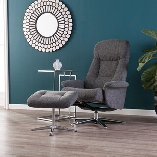 Harper Blvd Tomaus Gray Reclining Chair and Ottoman