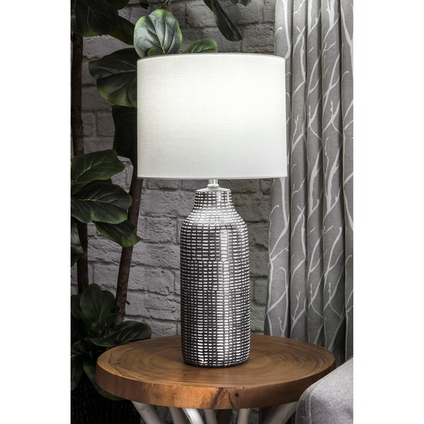 "Watch Hill 26'' Ilene Ceramic Linen Shade Table Lamp - 26"" h x 13"" w x 13"" d"