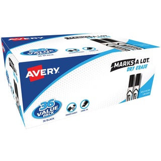 Avery Marks-A-Lot Desk-Style Dry Erase Markers 36/Pkg