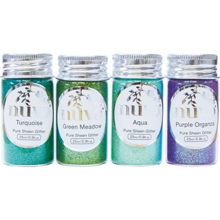 Nuvo Pure Sheen Glitter 4/Pkg