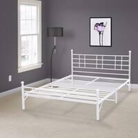 The Gray Barn Sunnybrooke Full-size Steel Platform Bed Frame - White