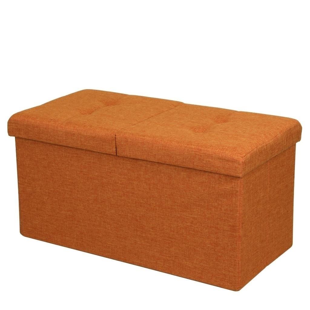 Pleasant Storage Ottoman Bench 30 Inch Smart Lift Top Amber Orange Crown Comfort Alphanode Cool Chair Designs And Ideas Alphanodeonline