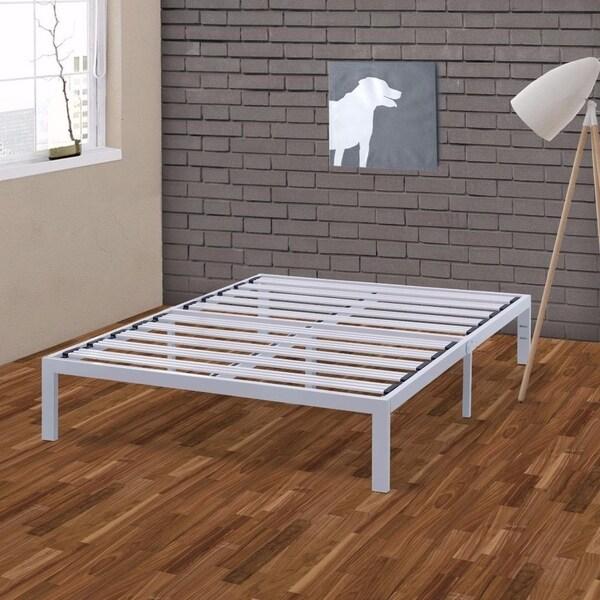 California King Size Heavy Duty Bed Frame Steel Slat Platform Series Titan E