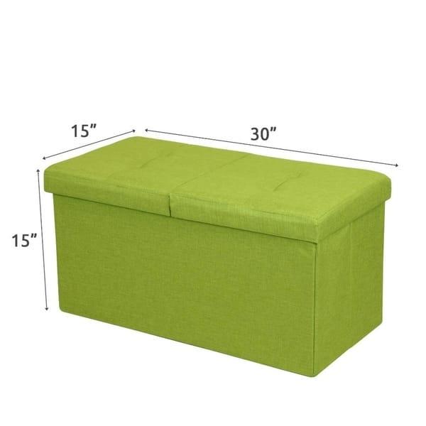 Phenomenal Shop Storage Ottoman Bench 30 Inch Smart Lift Top Lime Short Links Chair Design For Home Short Linksinfo