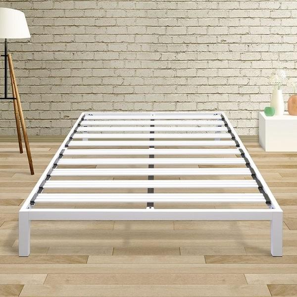 Shop California King size Bed Frame Heavy Duty Steel Slats Platform ...