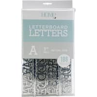 "DCWV Letterboard Letters & Characters 1"" 188/Pkg"