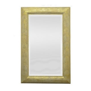47.5 in. Three Hands Metal Mirror - Gold - Horizontal
