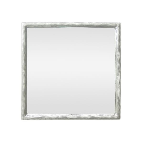 17.5 in. Three Hands Aluminum Mirror - Silver - 17.5 X 1 X 17.5