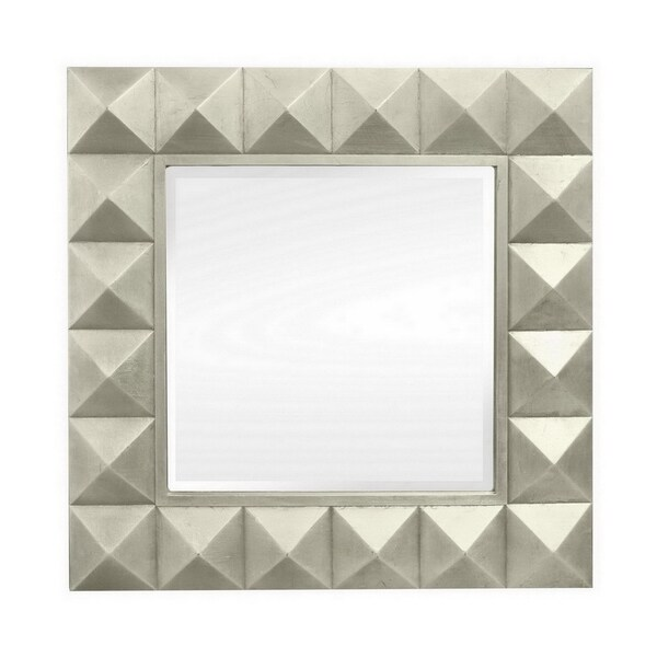 36 in. Three Hands Wood Wall Mirror - Champagne - Gold - 36 X 2 X 36