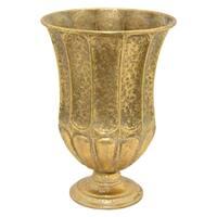 15 in. Three Hands Metal Vase - Gold