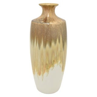 15.75 in. Three Hands Brown Ceramic Vase