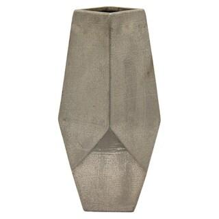 20 in. Three Hands Ceramic Vase-Silver