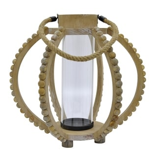 15.5 in. Three Hands Wood Lantern