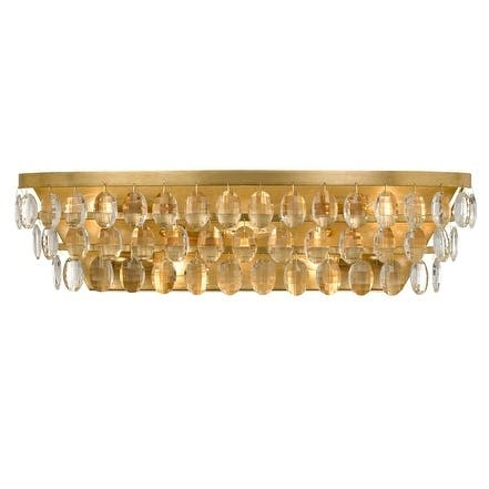 Crystorama Perla Collection 5-light Antique Gold Bath/Vanity Fixture