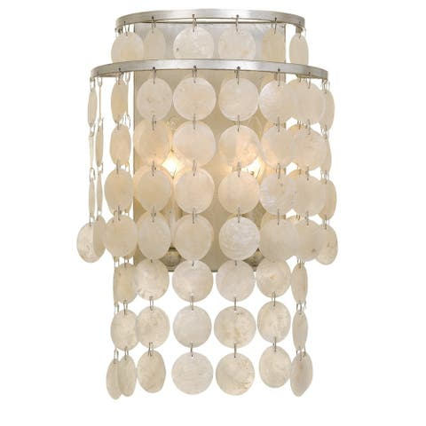 Crystorama Brielle Collection 2-light Antique Silver Wall Sconce - Antique Silver