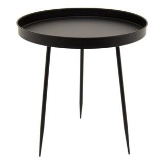 Three Hands Decorative Black Metal Accent Table