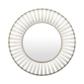 35.5 in. Three Hands Metal Mirror - Silver - 35.5 X 2 X 35.5