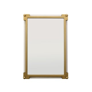 30 in. Three Hands Wall Mirror - Gold - N/A