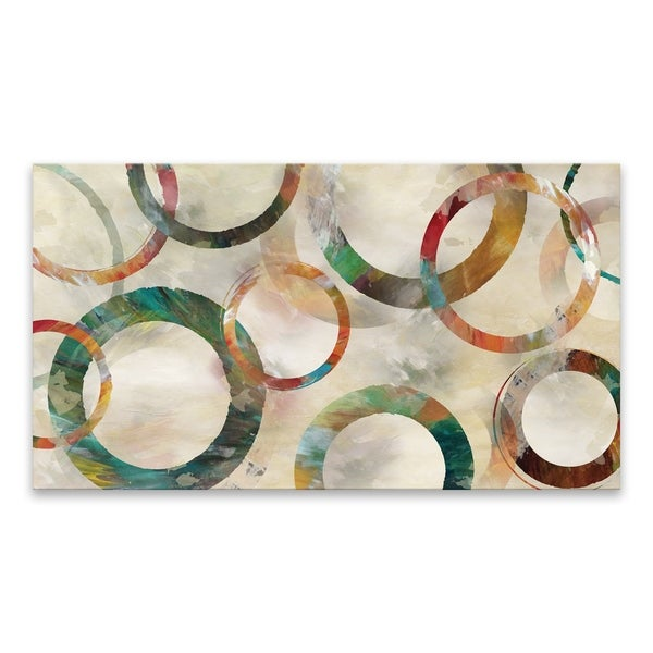 """""""Rings Galore"""" Premium Gallery Wrapped Printed Canvas - 45W x 25H x 1.5D 34590389"""